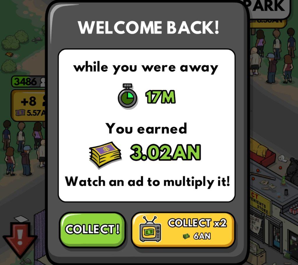 welcome back cash bonus