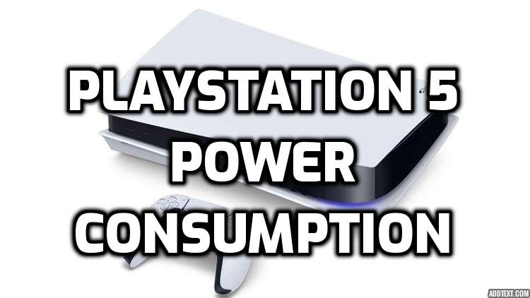 playstation 5 power consumption