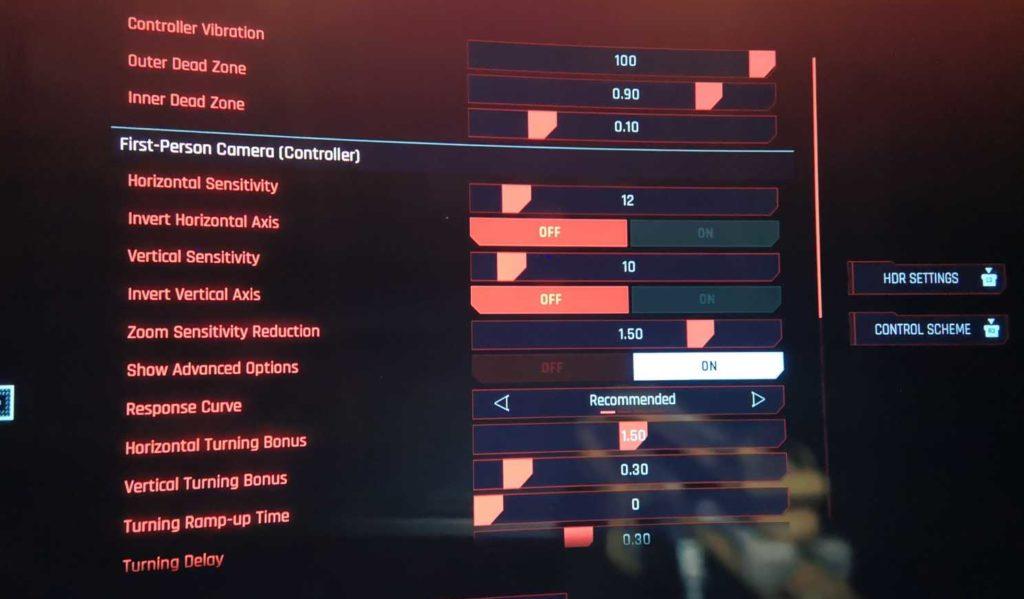 cyberpunk 2077 aim sensitivity
