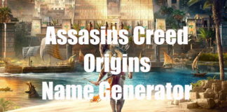 Assassins Creed Origins Name Generator