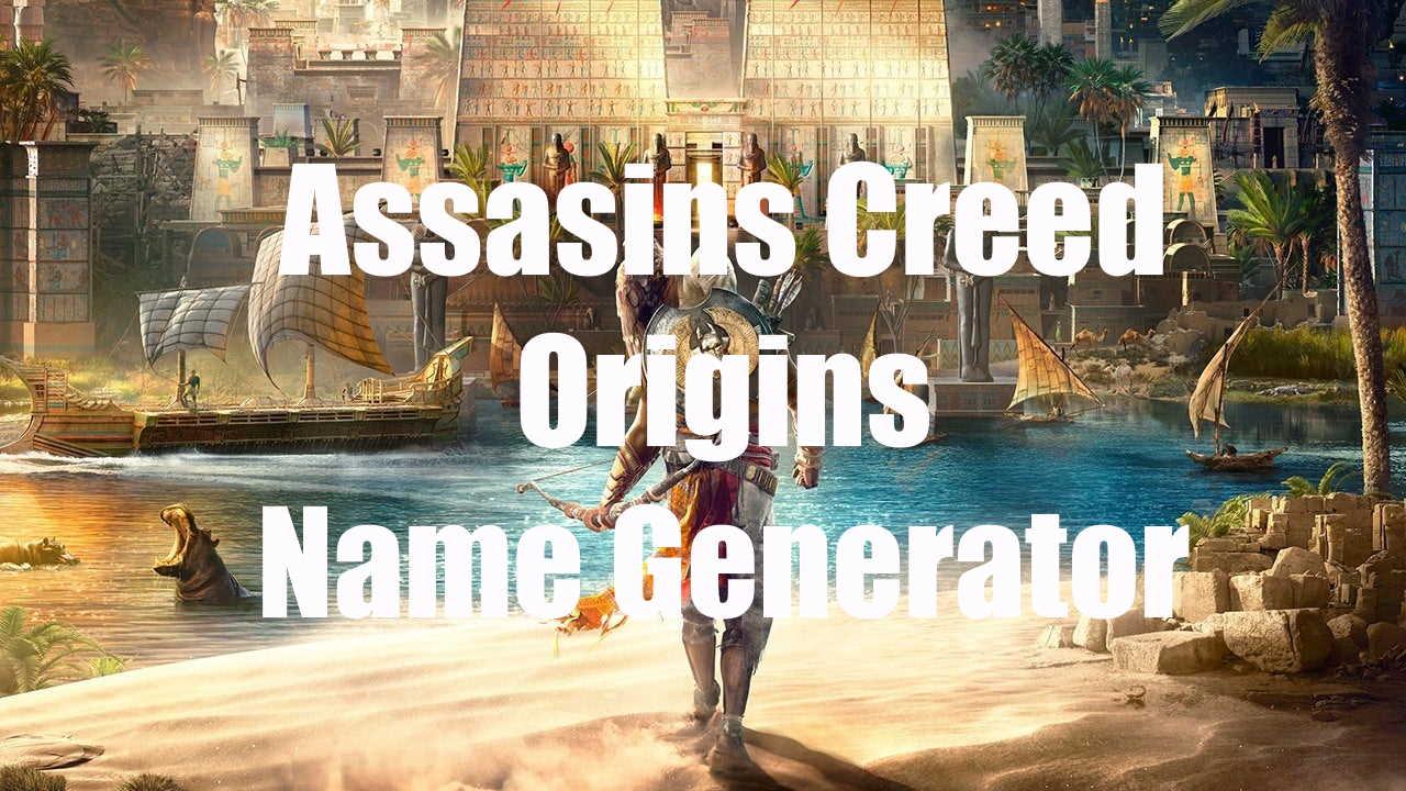 Assassins creed origins name generator