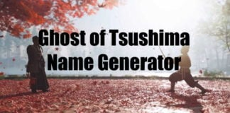 Ghost of Tsushima Name Generator