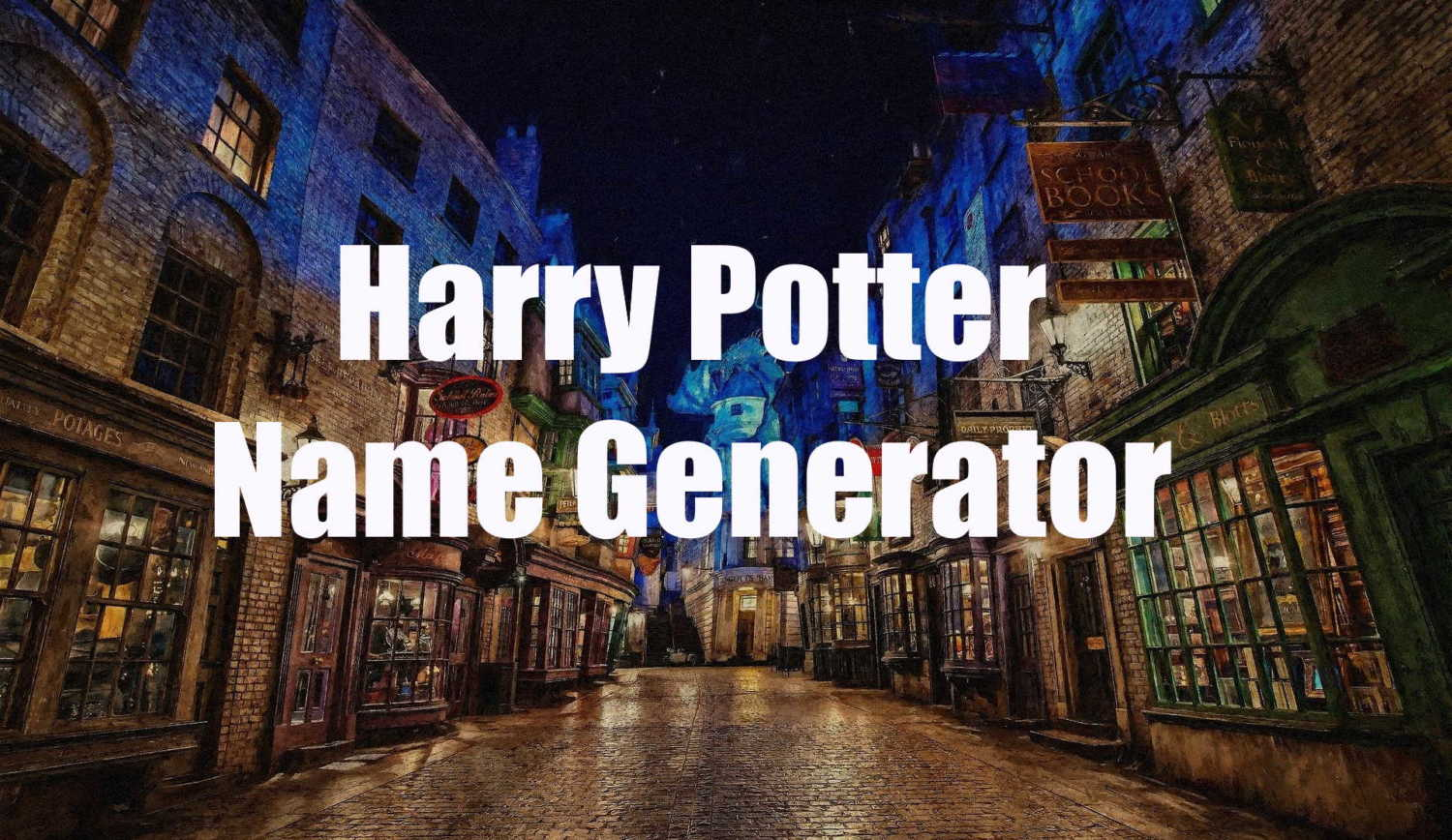 harry potter name generator