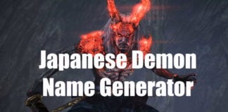 Japanese Demon Name Generator