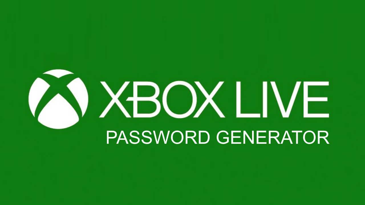 Xbox Live Password Generator Image