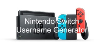 Nintendo Switch Username Generator