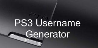 PS3 Username Generator