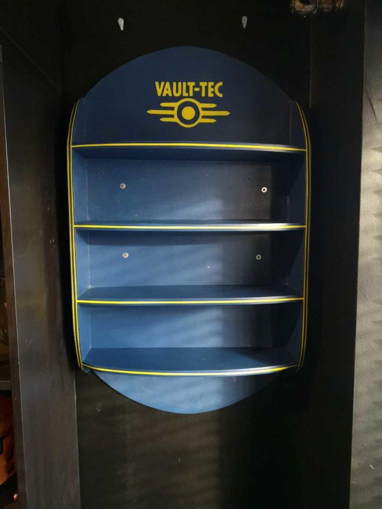 custom fallout bobblehead shelf