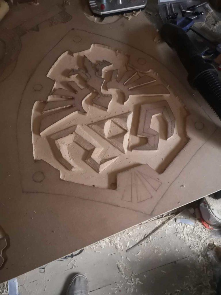 hylian shield cutting