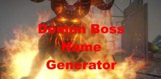 Gaming Demon Boss Name Generator