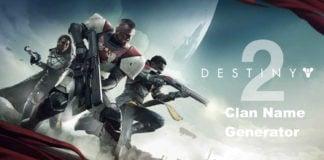 Destiny Clan Name Generator