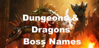 DnD Boss Name Ideas