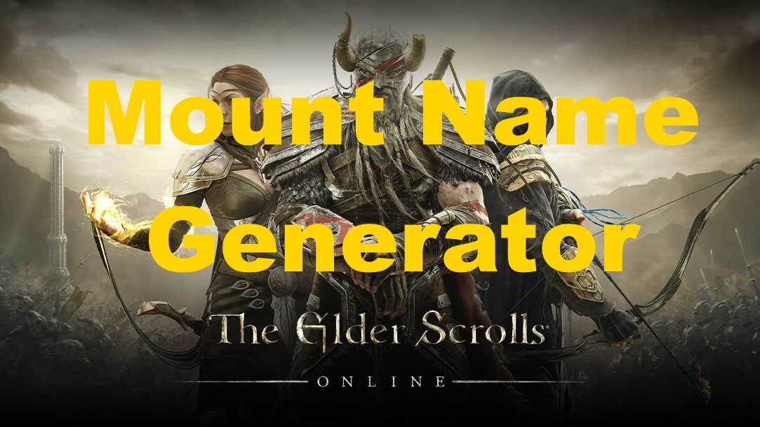 elder scrolls mount name generator