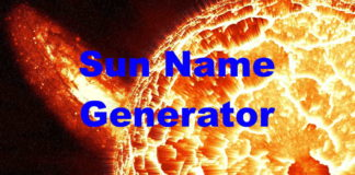Sun Name Generator
