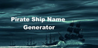 Pirate Ship Name Generator