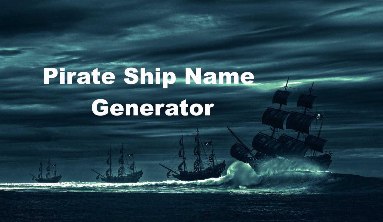 Pirate Ship Name Generator Image