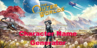 Outer Worlds Name Generator