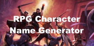 RPG Name Generator