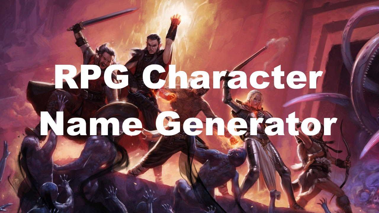 RPG Character name generator