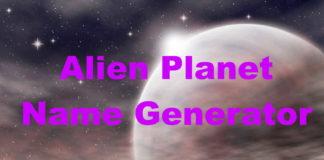 Alien Planet Name Generator