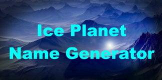 Ice Planet Name Generator