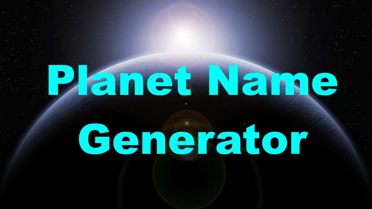 planet name generator