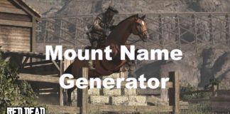 Red Dead Mount Name Generator