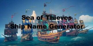 Sea of Thieves Ship Name Generator