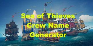 Sea of Thieves Crew Name Generator