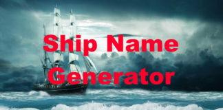 Ship Name Generator