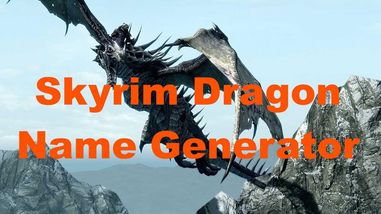 skyrim dragon name generator