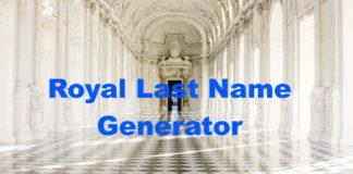 Royal Last Name Generator