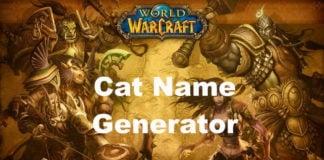 Warcraft Cat Name Ideas