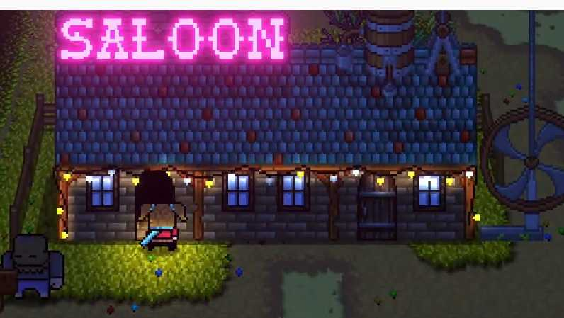 get inside the saloon