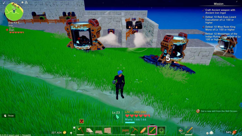 automated iron farm